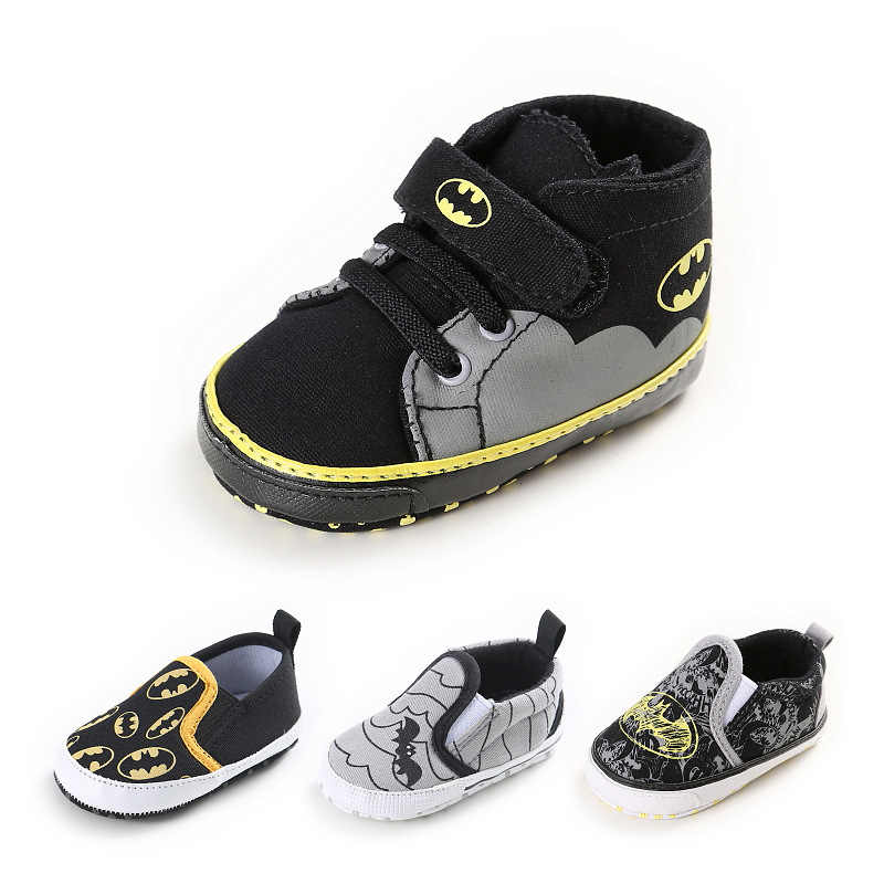 2018 New Spring Cartoon Batman Superman Baby Boys Fashion Sneakers Soft sole Infant bebe Toddler Shoes First Walkers 0-18M