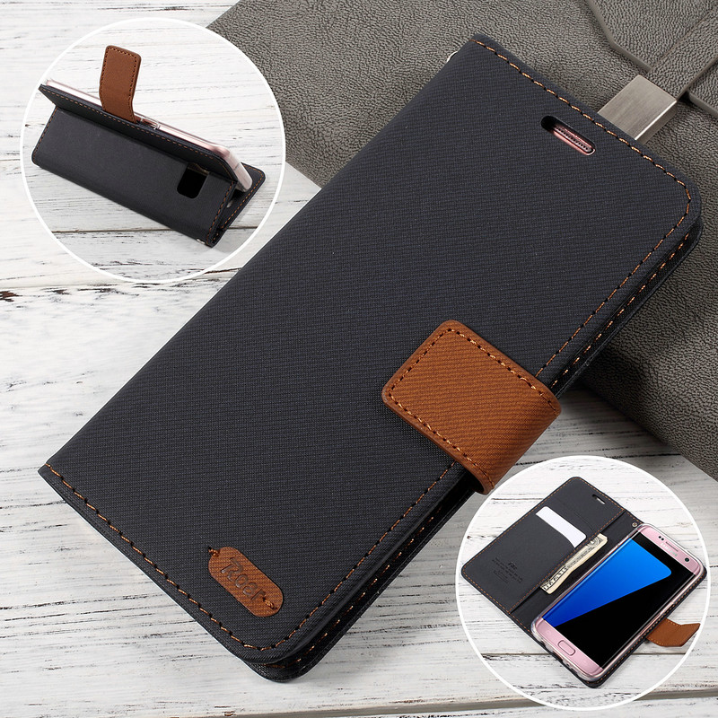 For Samsung Galaxy S7 Edge Case Original ROAR KOREA Diary View Leather Mobile Flip Case For