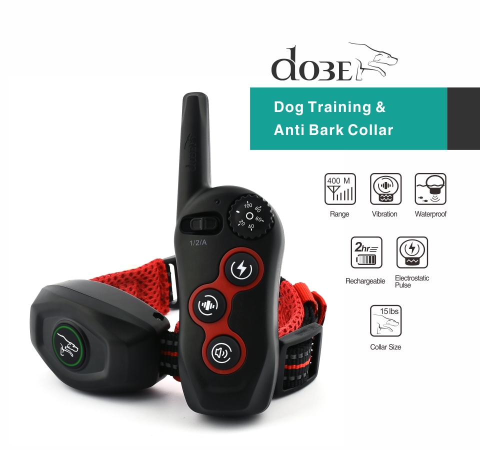 400M Rechargeable and 2 in 1 Dog Training Collar and Anti Bark Collar with Remote Control 8