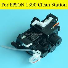 1 PC Original Capping Station+ Pump Assembly For EPSON 1400/1390 Printer used r1390 ink pump unit for epson 1390 r1390 1400 r1400 cleaning unit for epson 1390 ink pump