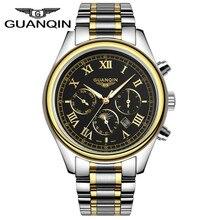 Мужчины Часы Люксовый Бренд Известный Лучший Бренд GUANQIN Часы Мужчины Водонепроницаемый Кварцевые Часы Мужчины Часы Наручные Часы Relogio мужской 2016