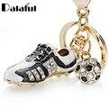 De Fútbol fútbol zapatos de diamantes de imitación zapatos llaveros coche bolso hebilla colgante llaveros cadenas mujeres regalo K258