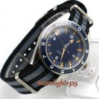 Debert 41mm azul estéril dial alça de náilon data cerâmica bisel 5atm miyota mecânico automático relógio masculino|Relógios mecânicos| |  -