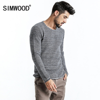 SIMWOOD 2017 Autumn Winter New Sweater Men Cotton Cashmere Wool Fabric Slim Fit Plus Size Knitted