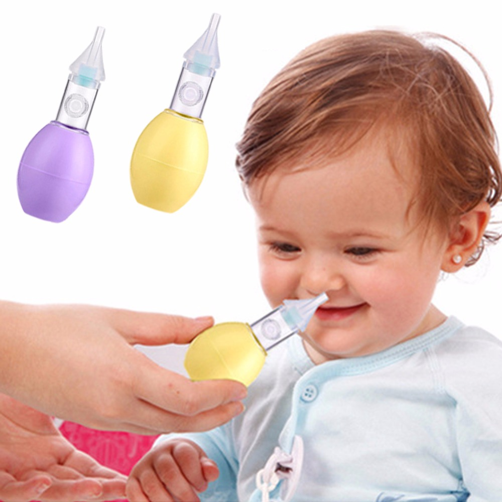 2016 New Born Baby Safety Nose Cleaner Vacuum Suction Nasal Aspirator Slicone Duct Type  ...