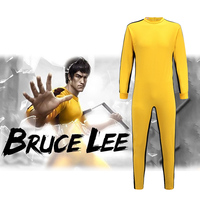 Game Of Death Suit Bruce Lee Costume Yellow Jumpsuit Chinese Kung Fu Idols Bruce Lee Uniform
