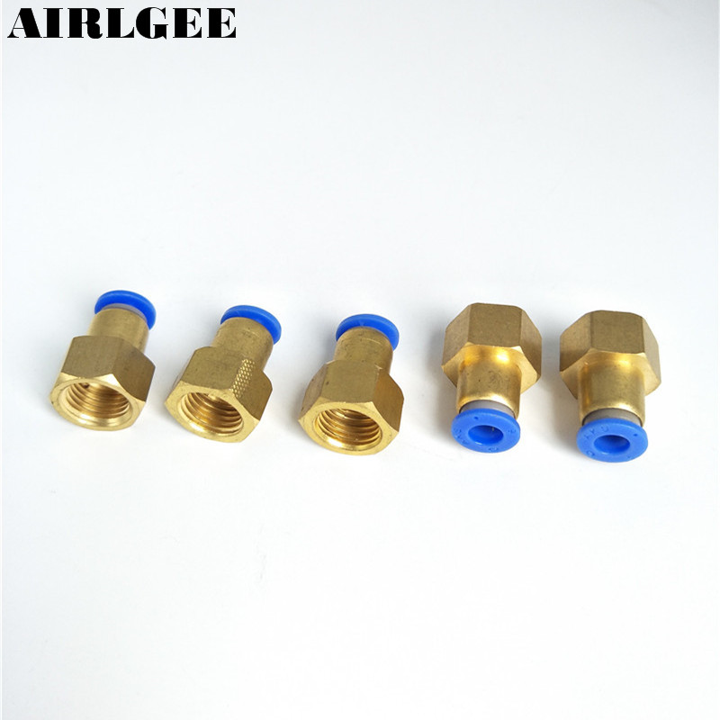 1/4 PT Female Thread to 6mm Tube Air Pneumatic Pipe Coupler Straight Quick Release Fitting 5 Pieces 8mm tube to 8mm tube plastic pipe coupler straight push in connector fittings quick fitting page 3