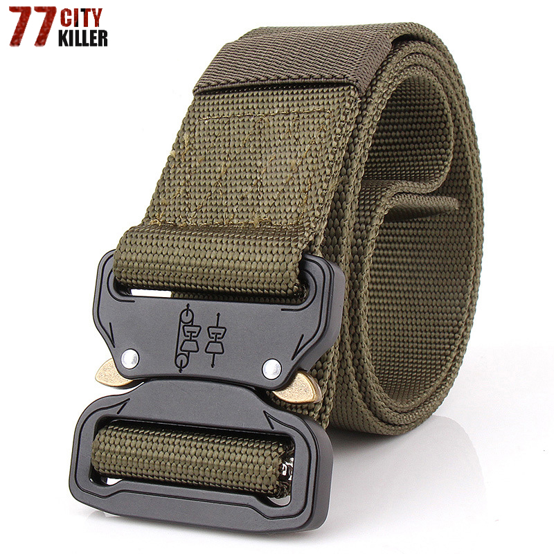 Combat Military Equipment Tactical Belt Men 1000d Nylon Metal Buckle Knock Off Belts Us Army Swat Carry Waist Bel Apparel Accessories
