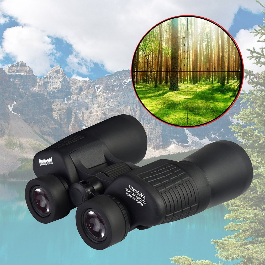 BELESHI 10X Binocular Zoom Telescope Optical Lens Hunting Scope Outdoor Bird Watching Astronomy Observation Tool 10x zoom telescope lens with tripod
