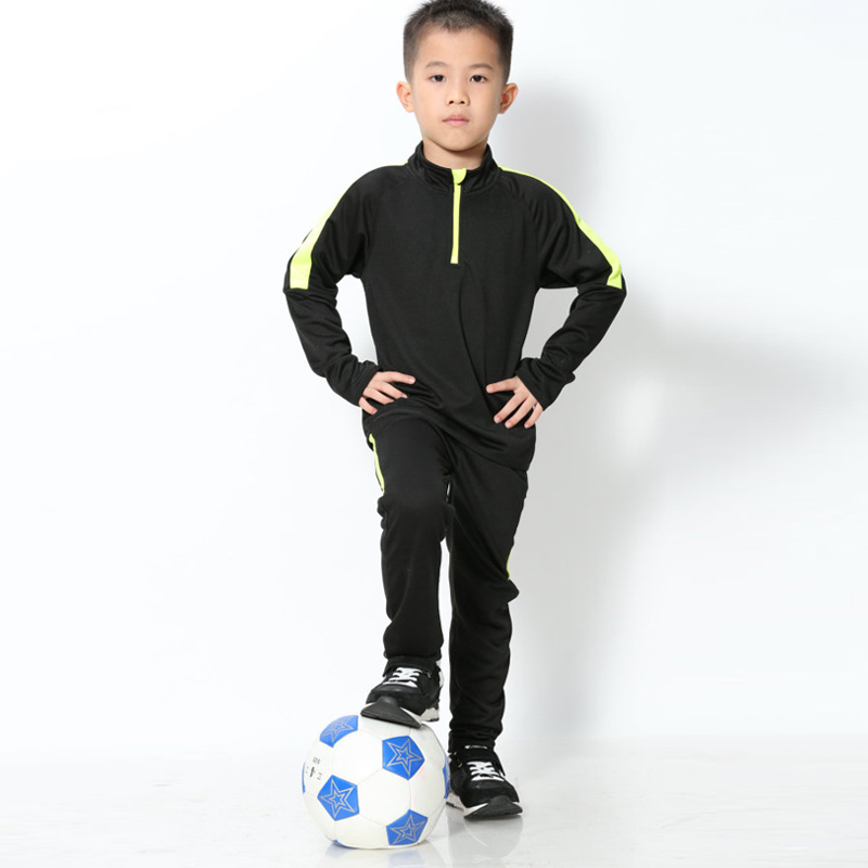 Children Long Sleeve Soccer Uniforms Kids Football Jerseys Zipper Training Suit Tracksuits Set Soccer Jerseys Shirt + Pants kryptek mandrake frog fighting suit police frog uniforms army trainning uniform set one long sleeve shirt and one tactical pant