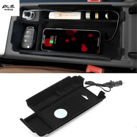 Mobile phone wireless charging Central armrest storage box Car Accessories For AUDI A4 B9 2017 2018 / A5 2017 2018