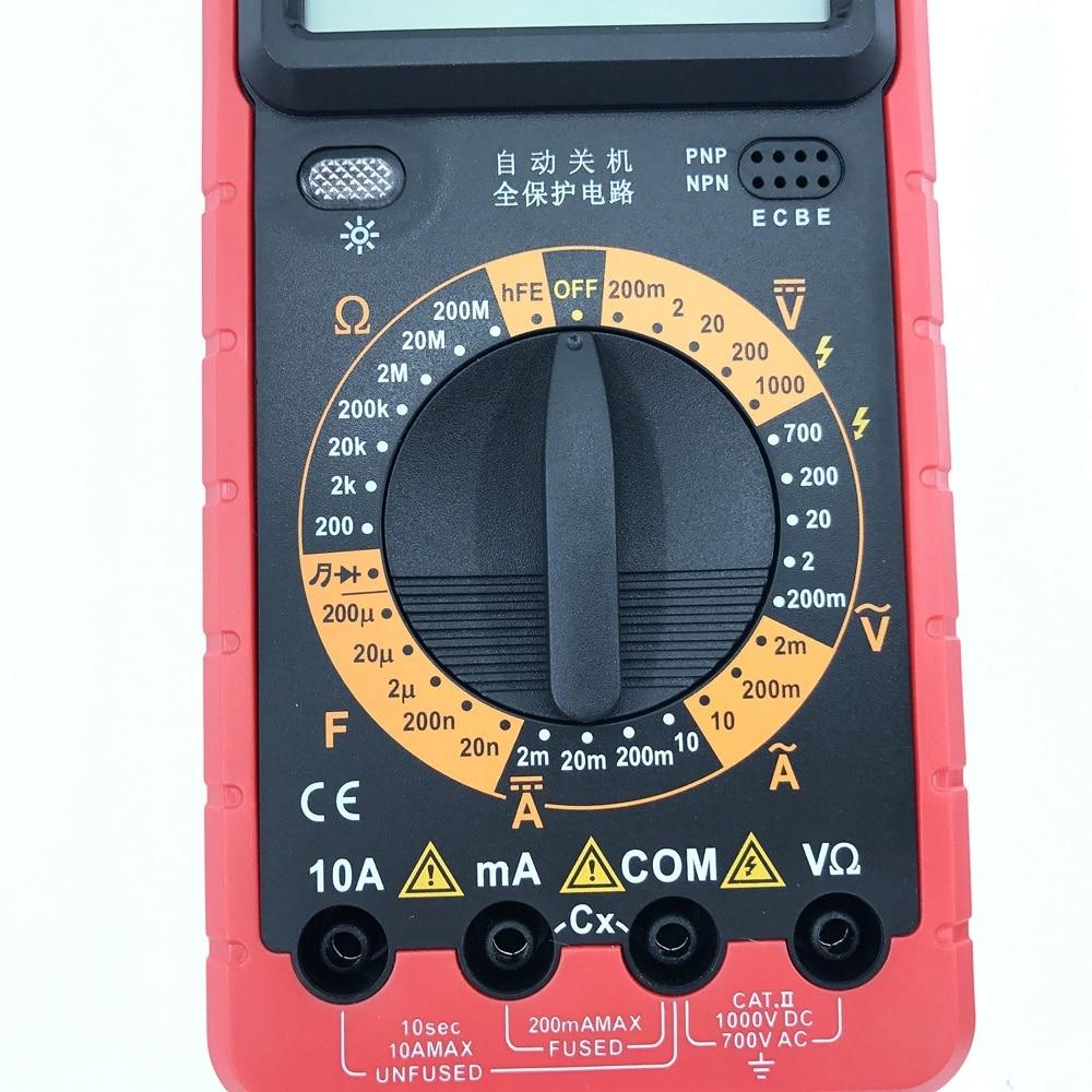 Multimetro digitale A9205 AC / DC Amperometro Capacità Voltmetro Ohm - Strumenti di misura - Fotografia 4