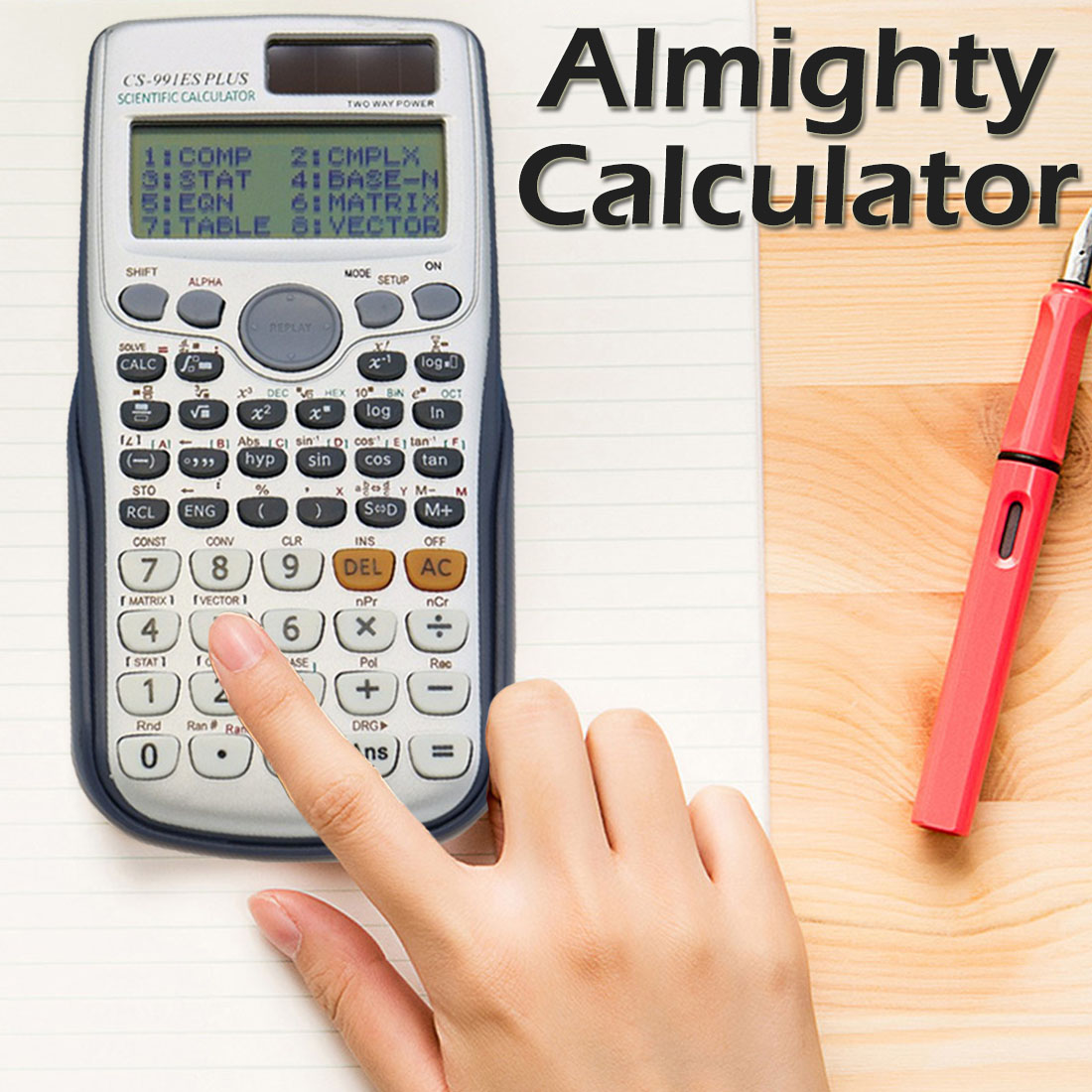 FX-991es Plus Scientific Calculator Dual Power With 417 Functions Dual Power Calculadora Cientifica Student Exam Calculator
