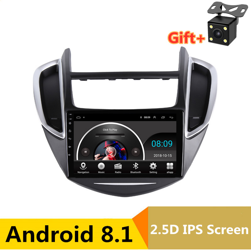 "9"" 2.5D IPS Android 8.1 Car DVD Multimedia Player GPS for Chevrolet TRAX 2013 2014 2015 audio car radio stereo navigation"