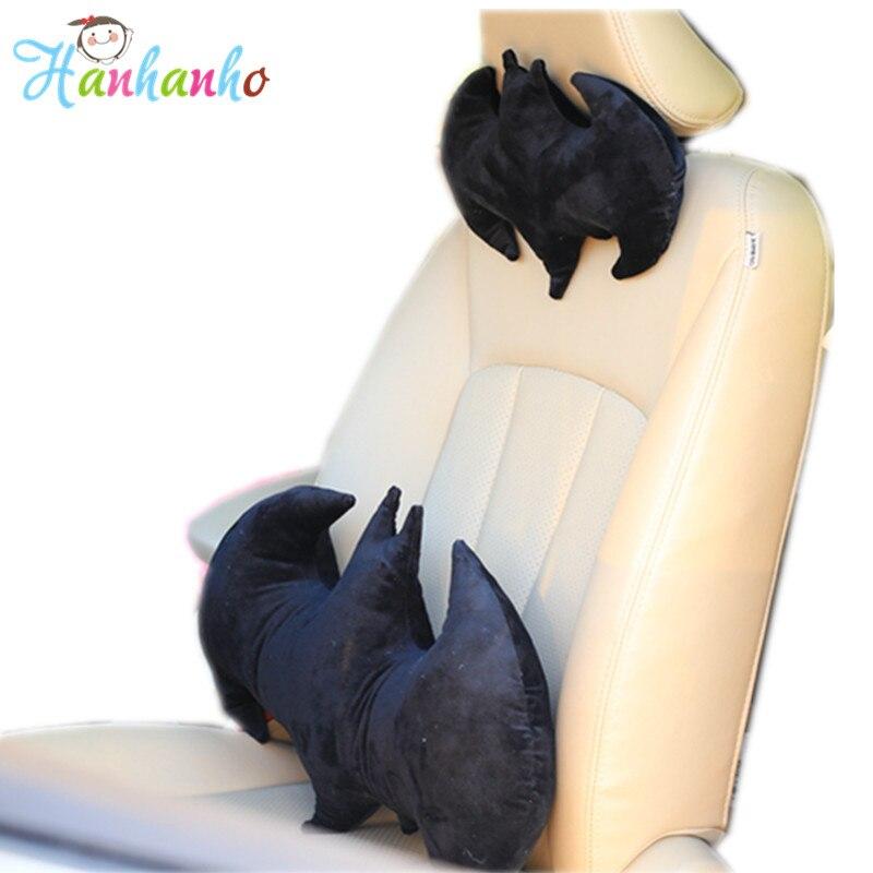 Creative Bat Soft Car Neck Pillow Waist Cushion Novelty Boyfriend Gift Plush Toy Headrest Cushion the space memory cotton car waist cushion summer pillow headrest backrest