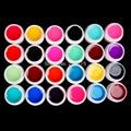 New DIY 24 PCS Mix Colors Glass UV Builder Gel Acrylic Nail Art Set for Nail Tips