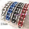 9 23cm 23mm New Fashion Jewelry 316L Stainless Steel Silver Black Red Blue Atmosphere Men S