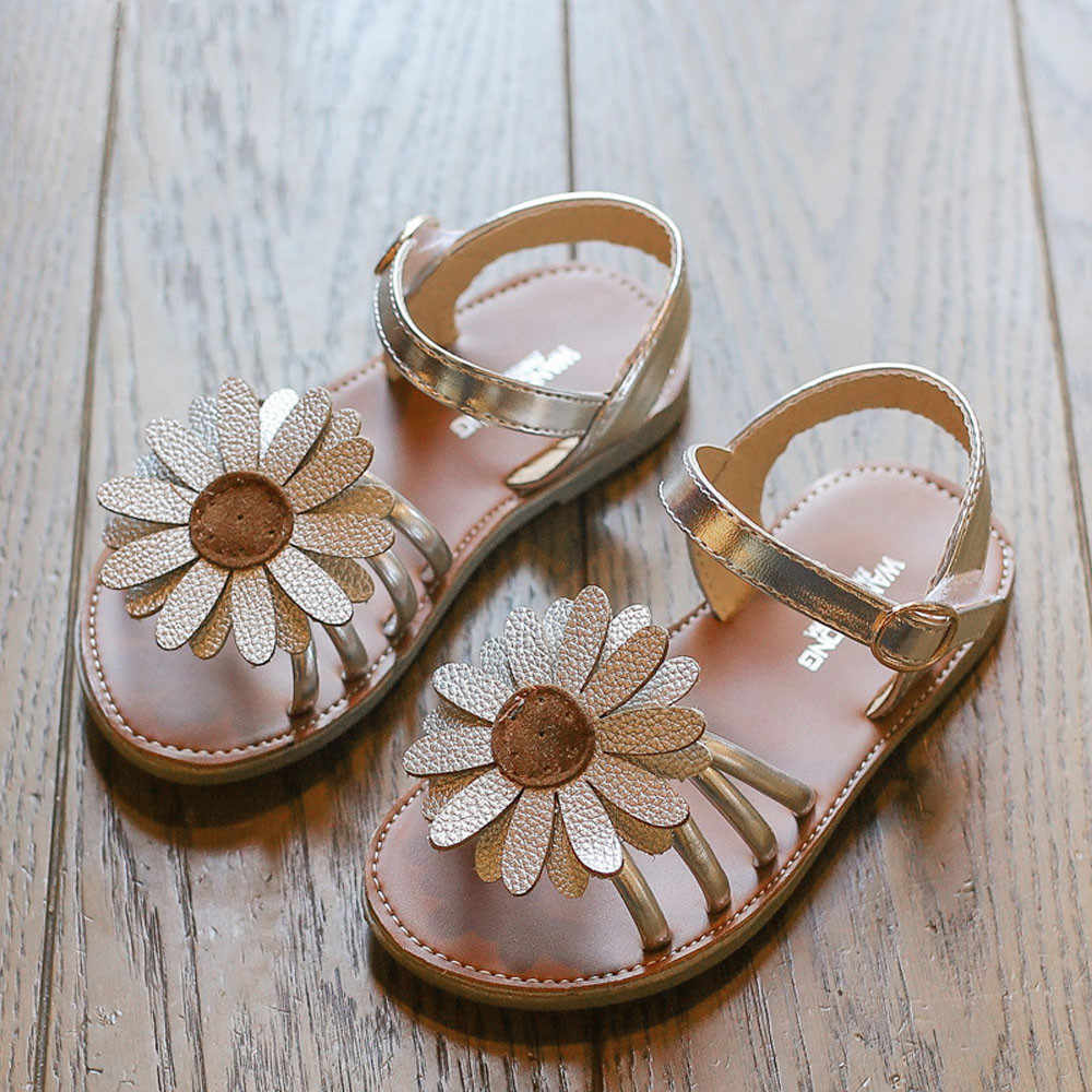 girls sandals Children's shoes 2019 Summer new Toddler Kids Baby Girls sandalias Flower Roman sandals for girls Princess Shoes