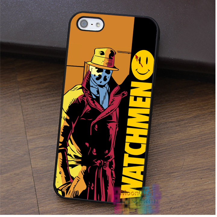 Rorschach Watchmen Marvel Anti Hero Smiley Face cell phone case for iphone 4 4s 5 5s 5c SE 6 6s 6 plus 6s plus 7 7plus #ey560