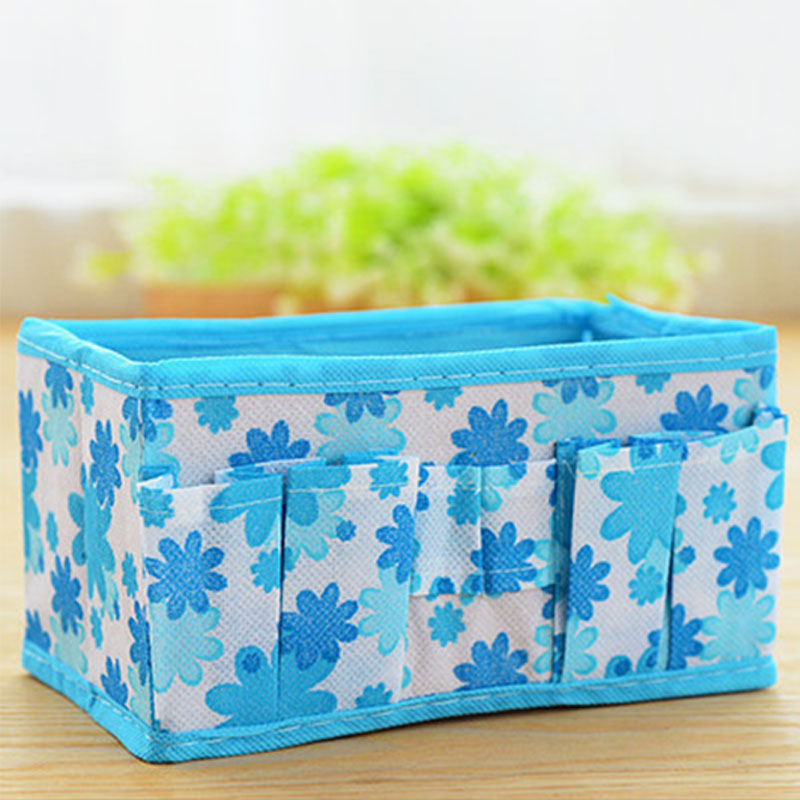 Desk Storage Box Cosmetic Case Home Accessories Non-woven Collapsible Multi-functional Printing Bags Finishing Boxes