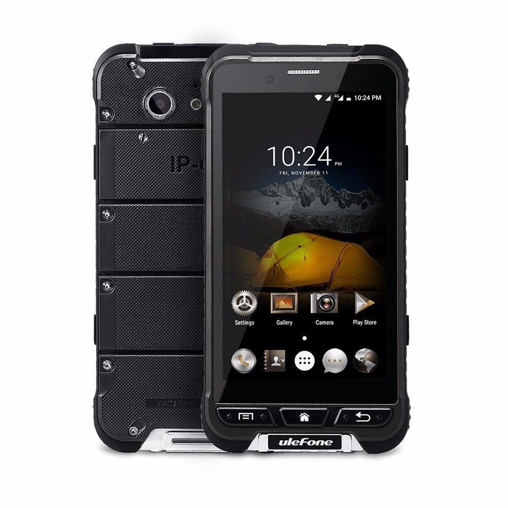 Ulefone Armure Étanche Ip68 Robuste Téléphone MTK6753 3 + 32g Android 6.0 13MP OTA 4G 1280x720 4.7 Pouce HD Mobile Téléphone