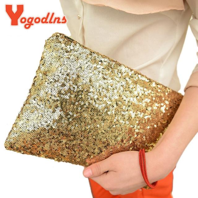 Yogodlns 2017 women's handbag fashion paillette bling day clutch bag clutch bag evening party bags