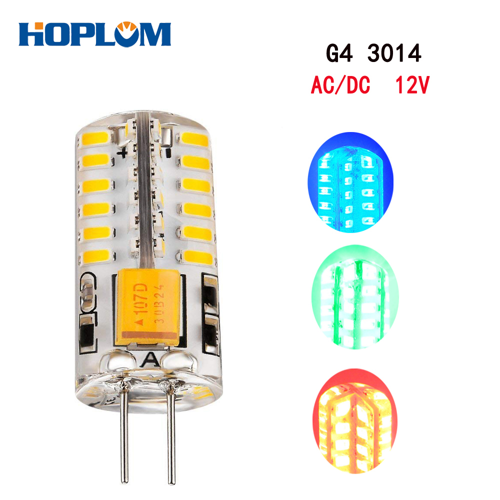 3014 LED <font><b>G4</b></font> 48 SMD <font><b>3W</b></font> Light Bulb Boat Lights AC/DC <font><b>12V</b></font> Silicone Lamp Red/Blue/Green image