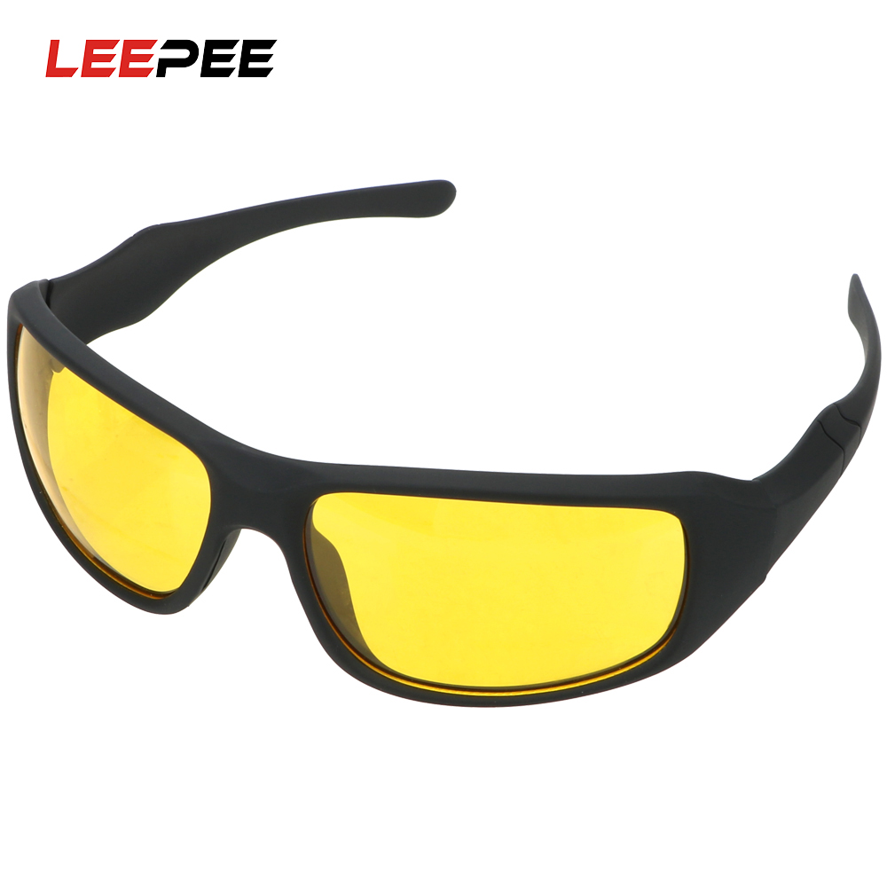 LEEPEE Wind Resistant Outdoor Sports Riding Motorcycle Glasses Night Driving Glasses For Men and Women Night Vision Goggles