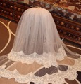 2015 White/Ivory Wedding Veil 3m Long Comb Lace Mantilla Cathedral Bridal Veil Wedding Accessories Veu De Noiva Real Photos MD30