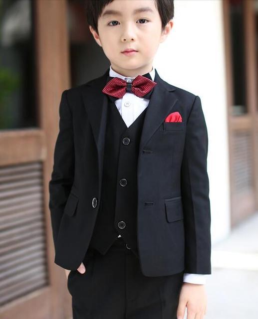 2017 autumn boys suits for weddings arrival solid black boys ...