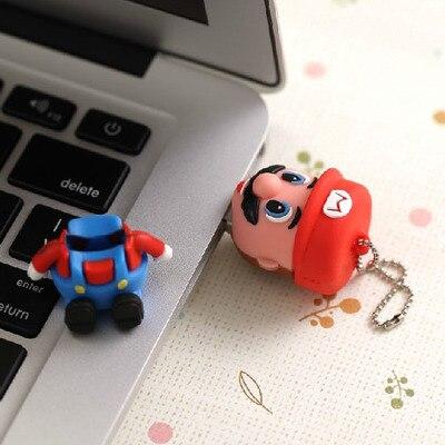 Новый 3D Мультфильм Фигура Super Mario Pen Драйвер USB 2.0 Памяти Flash Card Pen Drive 16 ГБ 32 ГБ 64 ГБ Pendrive USB Stick1TB 2 ТБ подарок
