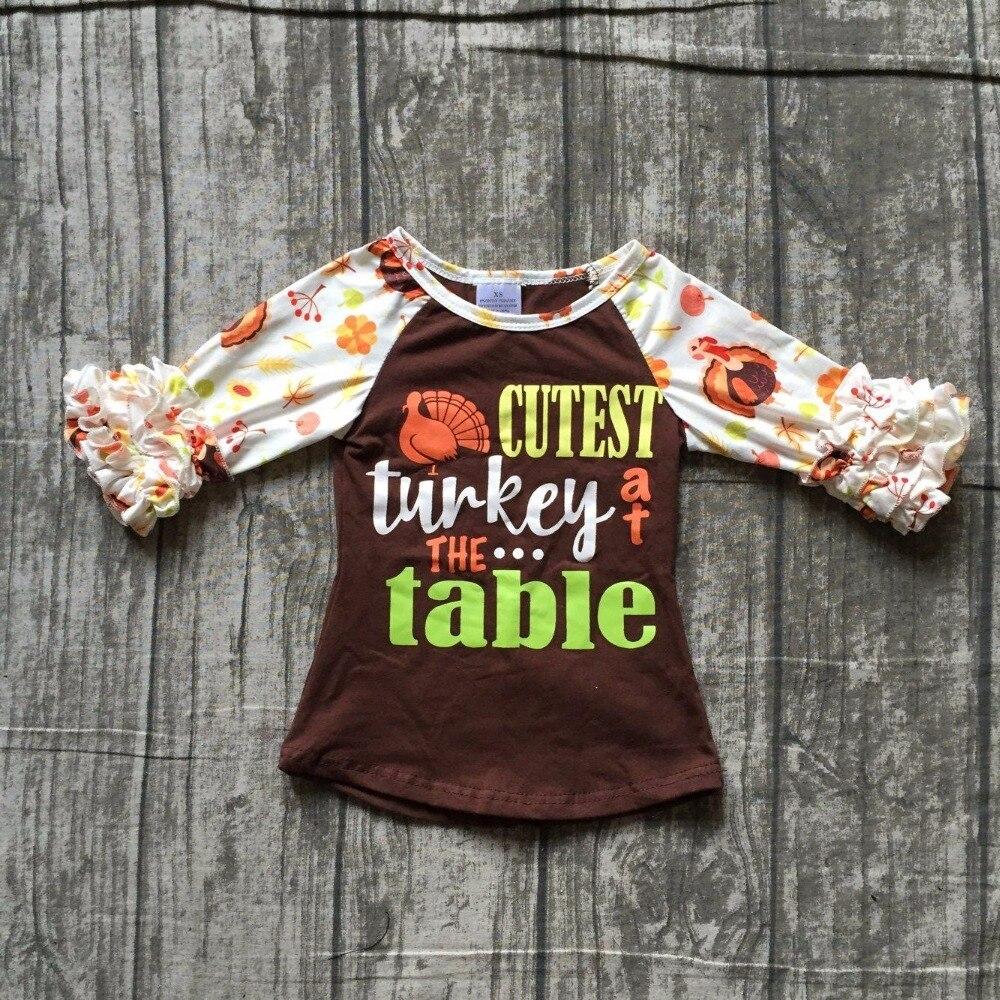 Kinder mädchen thanksgiving raglans baby mädchen cutest türkei am tisch raglans mädchen thankgiving party top raglans outfits