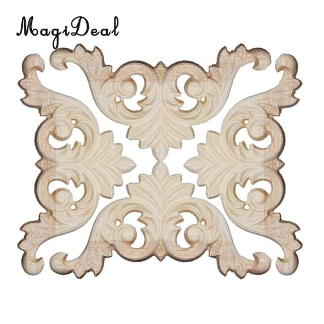 Online Shop 3D Wood Carved Corner Onlay Furniture Home Decorations ...