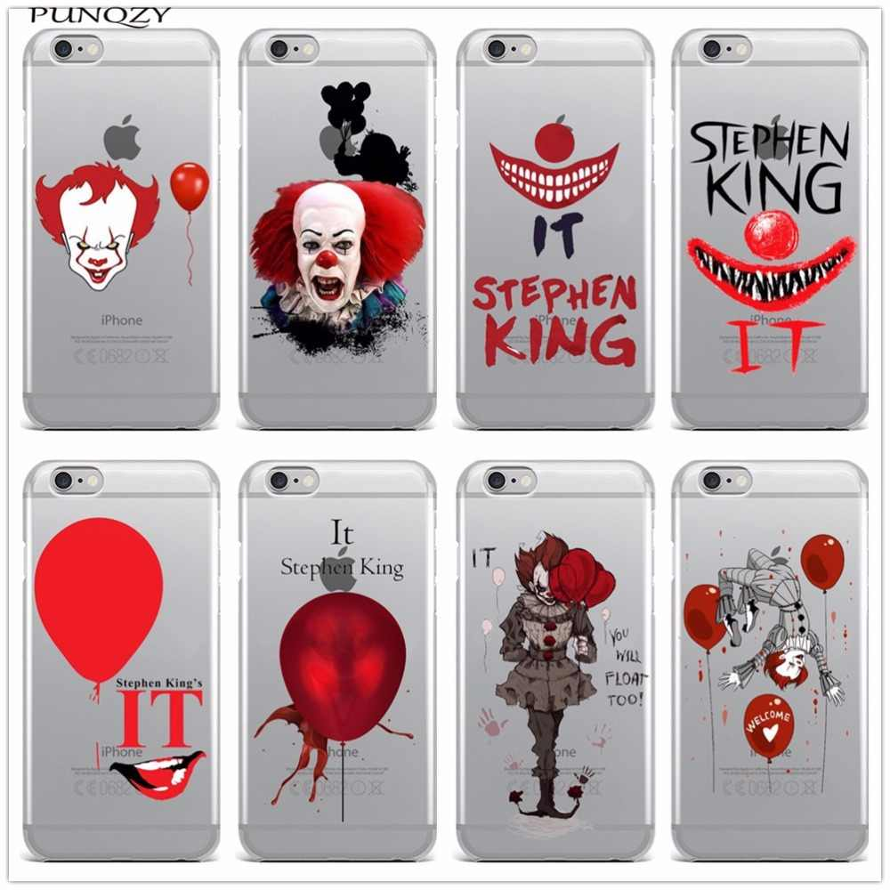 Stephen King's It TPU Soft Silicone Phone Case For iPhone 6 6S Plus 7 7Plus 8 8Plus X 5 5S SE Pennywise The Clown Horror Cover