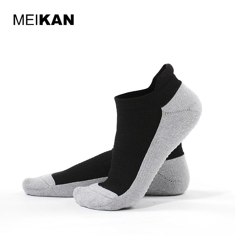 c5a1cd92bd Terry Yoga Socks Thick Non-slip Silicone Black Pilates Socks Women Cotton  Sport Crew Socks MEIKAN Brand Yoga Socks