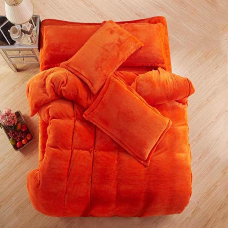 가을과 겨울 따뜻한 플란넬 침구 세트 양털 이불 커버 장착 시트 침대 천으로 킹 퀸 트윈 사이즈