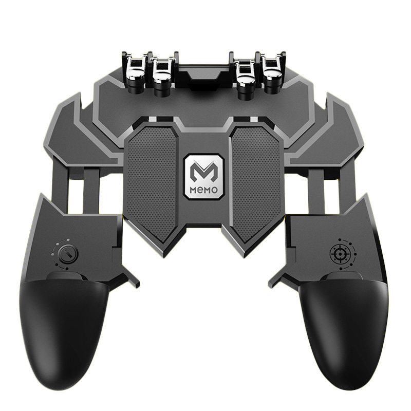 ShirLin AK66 6 Fingers Trigger Gamepad Shooter Joystick Gamer Joystick Gamer Controller with for PUBG Smartphone Phone Control-in Gamepads from Consumer Electronics