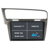 Android 7.1 HD 1024*600 Quad Core 2G RAM Car DVD Player Radio GPS Navigation Stereo For Volkswagen VW Golf 7 MK7 VII 2012 2015