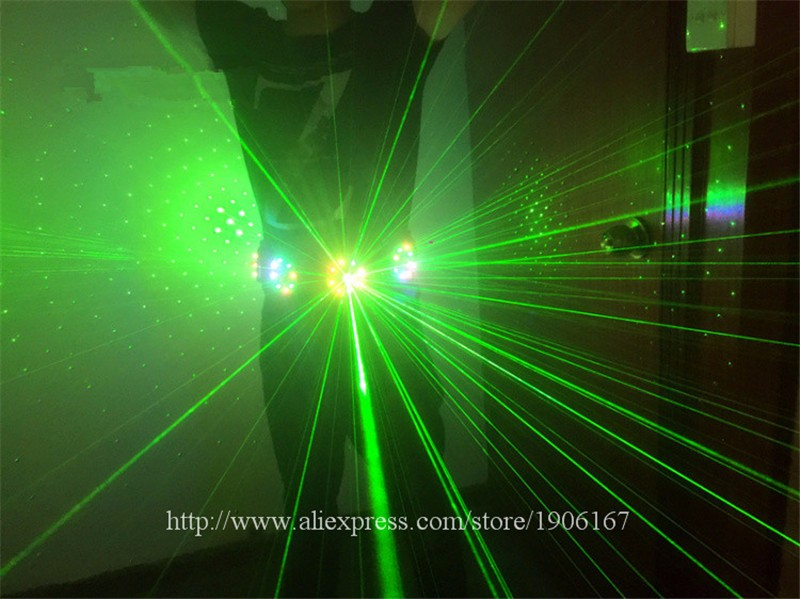 Colorful led green laser belt waistband girdle 09