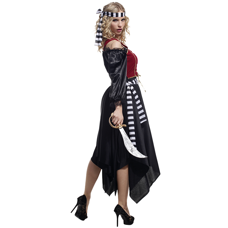 US $32 9 |2014 sale anime fantasia infantil halloween costume adult female  pirate suit cosplay dress masquerade dressed women clothing-in Anime