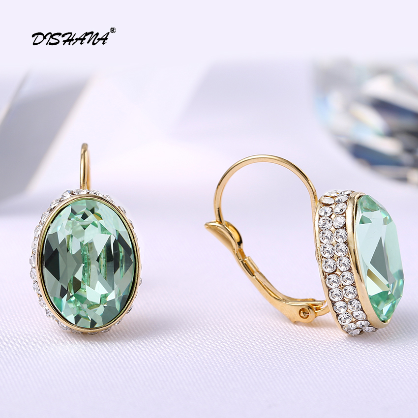 Kristal Drop Earrings untuk Wanita Pendientes Mujer Moda Emas-warna - Perhiasan fashion - Foto 5