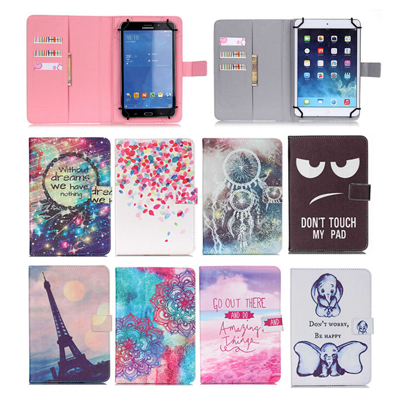 Wallet PU Leather Stand Cover Case Universal 10.1 inch 9.7 inch For Samsung Tab3 T520 T530 P5200 Tablet For Kids+flim+pen SC553Y