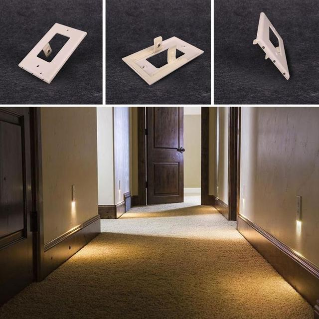 0 5w 3 Led Decor Night Angel Light Plug Cover Wall Outlet Hallway Bedroom Safety Lamp