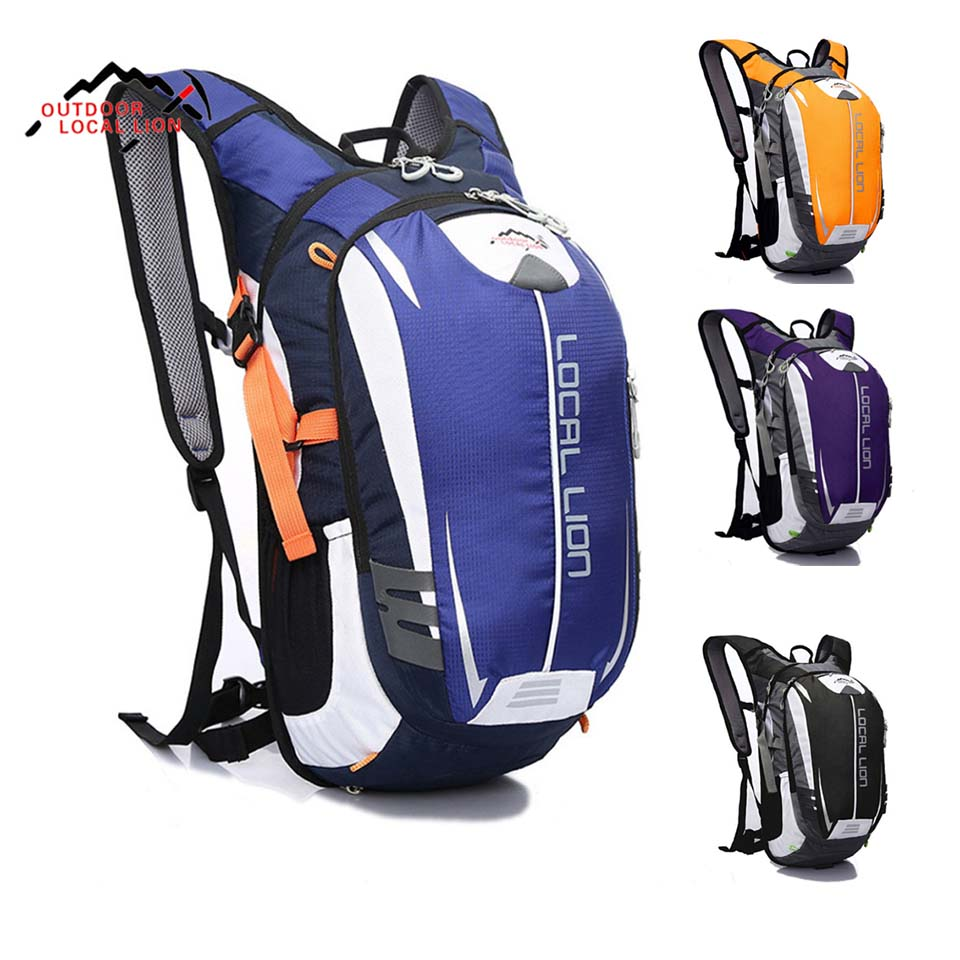 Ourdoor Sport Bag LOCAL LION 18L Су өткізбейтін велосипед рюкзактар ​​Велосипед Велосипед Рюкзаки Ракетка Рыжая жүгіру рюкзактар ​​Рейд орамасы