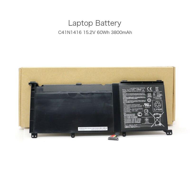 15.2V 60Wh 3800mAh C41N1416 Original Tablet Battery for Asus ZenBook Pro UX501L ZenBook Pro UX501J ZenBook Pro UX501JW Laptop