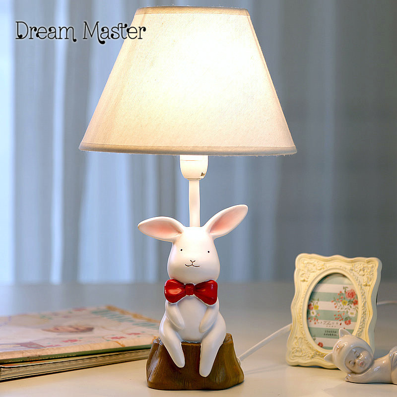The small white rabbit lamp warm bedroom bedside lamp dimming creative children's cartoon cute dorm Girls Birthday Gift m sparkling td303 creative cartoon 3d led lamp