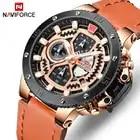 Top Brand NAVIFORCE Mens Luxury Watches Quartz Watch Men Leather Military Waterproof Sport Wristwatch relogio masculino