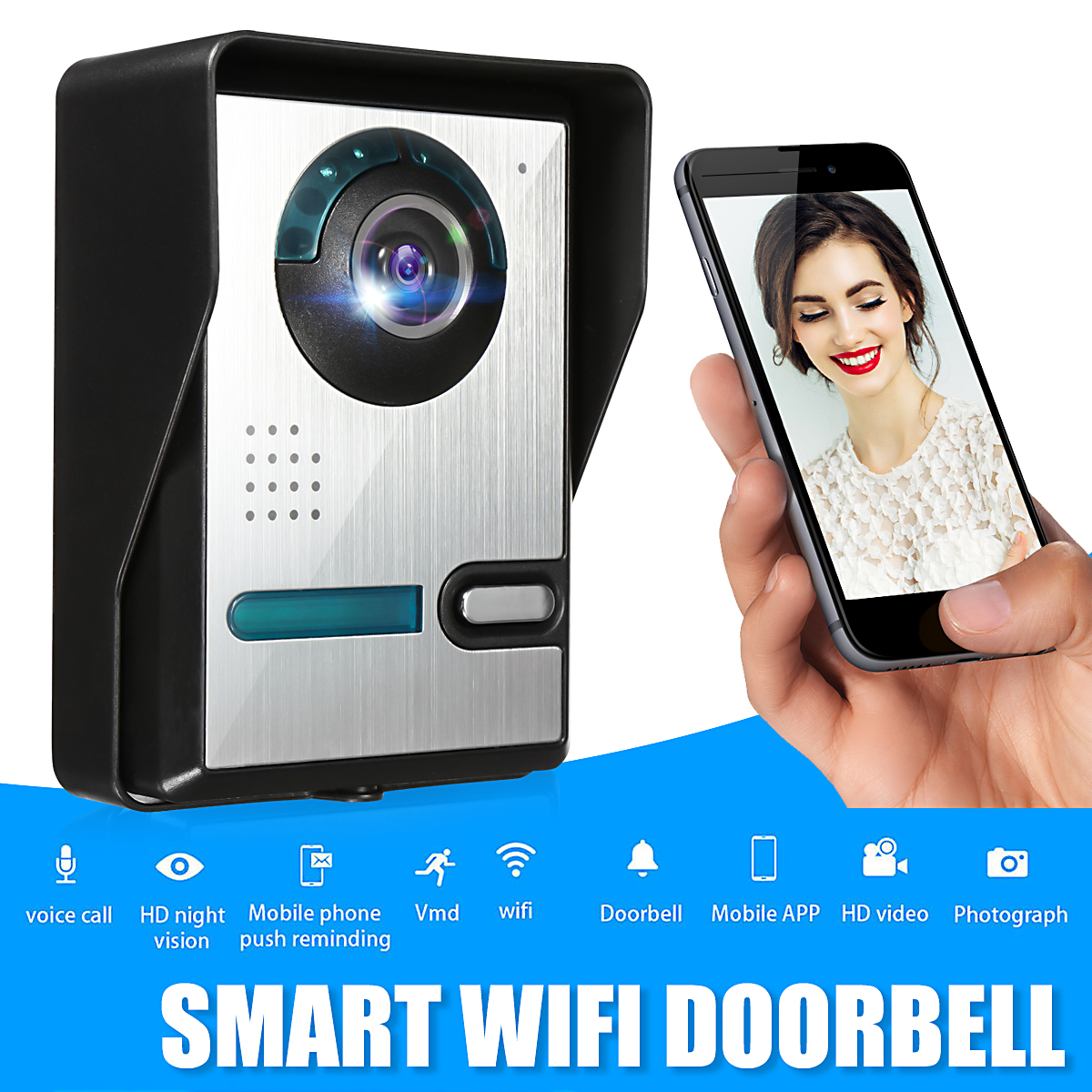 WiFi Video Doorbell Door IP Camera Viewer Night Vision Remot