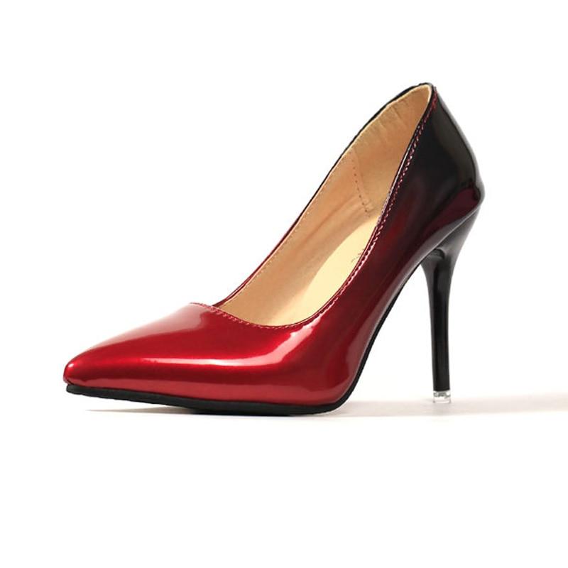 Women Pumps Fashion Shoes Spring/autumn pumps All Match Thin High Heel Pointed Toe Flock Wedding high heel
