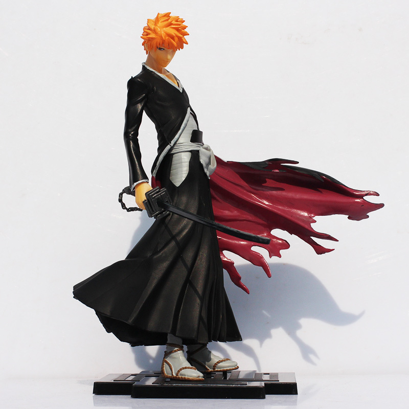 New arrival 20cm anime Bleach Kurosaki Ichigo PVC Action figures toy Great Gift for Kids-in Action & Toy Figures from Toys & Hobbies